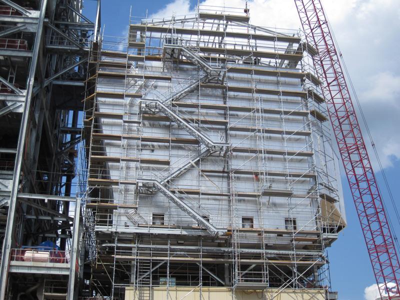 Towers Construction Scaffolding Siding Insulation Installation
